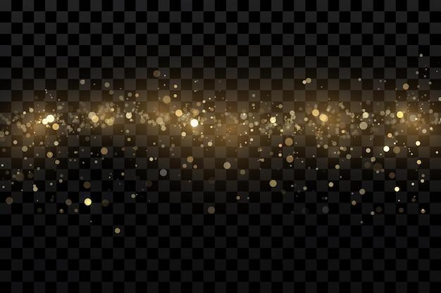 Gouddeeltjes lichteffect goudstof achtergronddecoratie