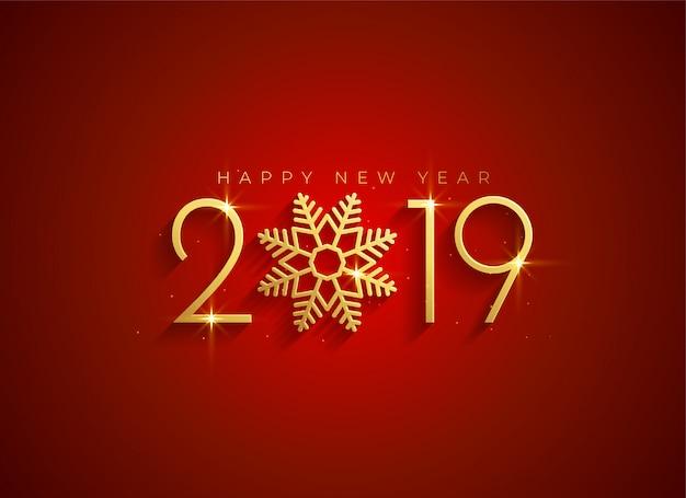 Gouden 2019 gelukkige nieuwe jaarachtergrond