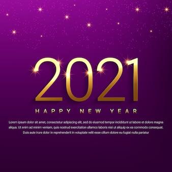 Gouden 2021 gelukkig nieuwjaar achtergrond