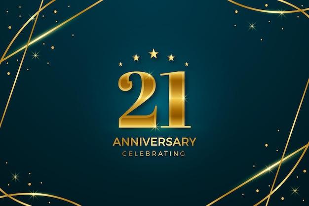 Gouden 21 verjaardag achtergrond