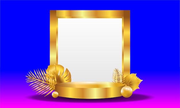 Gouden 3d-objectachtergrond