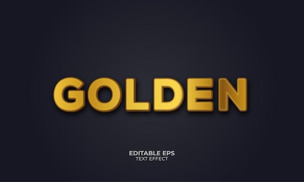 Gouden 3d-teksteffect