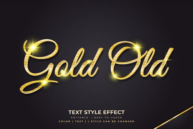 Gouden 3d tekststijleffect met glanzende textuur
