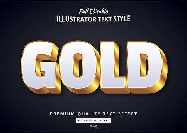 Gouden 3d-tekststijleffect