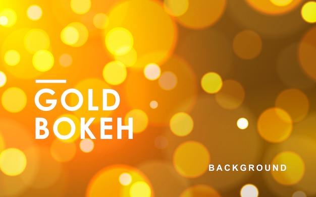 Gouden abstracte bokeh fonkelende lichten als achtergrond