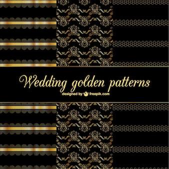Gouden abstracte decoratieve patronen