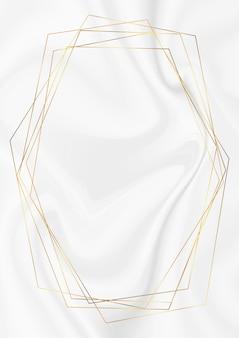 Gouden abstracte rand op marmeren textuur