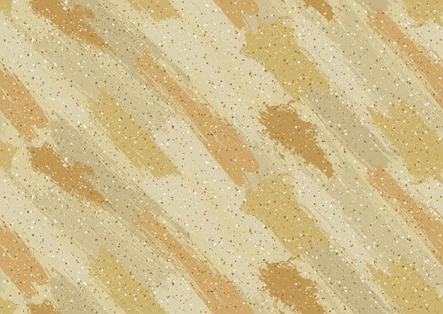 Gouden abstracte textuur met penseelstreken