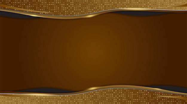 Gouden achtergrond met abstracte geometrische vormen