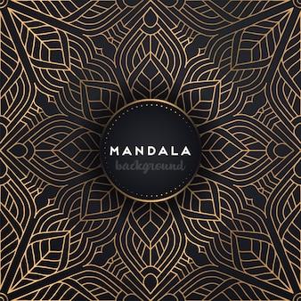 Gouden achtergrond met mandala