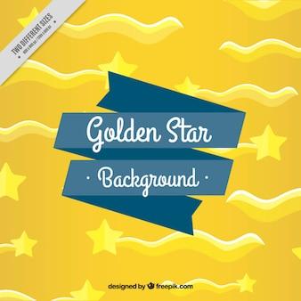Gouden achtergrond met vallende sterren