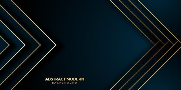 Gouden achtergrond modern met geometrische vorm