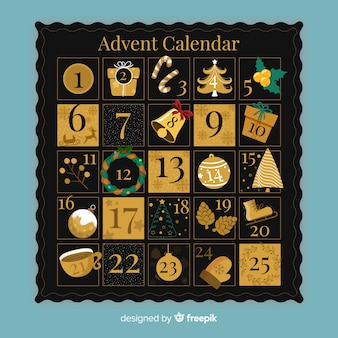 Gouden adventskalender