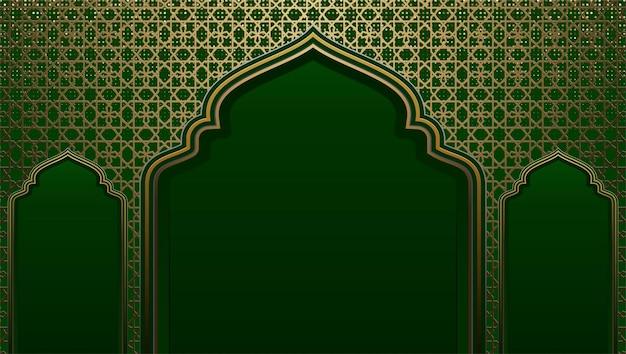 Gouden arabesque arabis stijl islamitische patroon achtergrond gratis vector