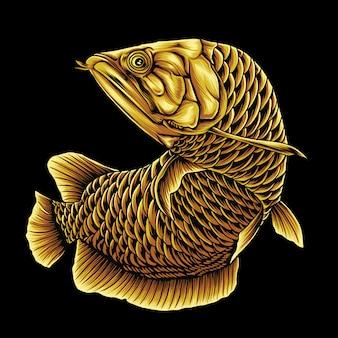 Gouden arowana-vissen
