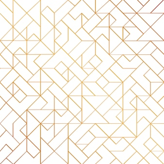 Gouden art deco naadloze patroon achtergrond met glanzende lijnen