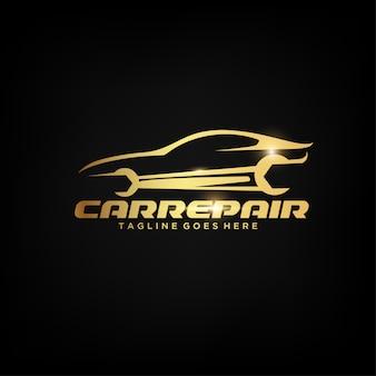 Gouden auto logo ontwerp