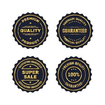 Gouden badge en premium label productsjabloon