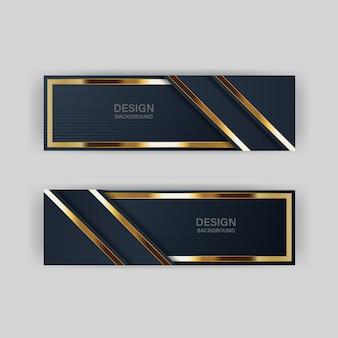 Gouden banner gouden luxe lichte kleur achtergrond achtergrond