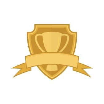 Gouden beker sjabloon
