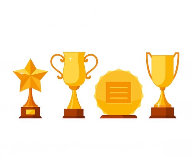 Gouden bekers en prijzen trofee-winnaar