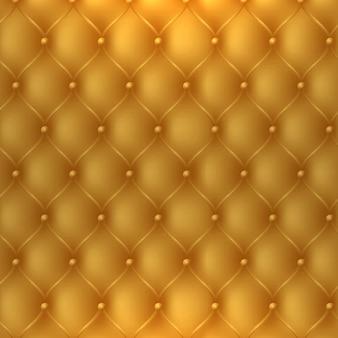 Gouden bekleding stof textuur cabine worden gebruikt als luxe of premium uitnodiging achtergrond