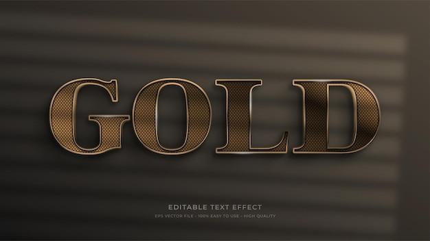 Gouden bewegwijzering bewerkbaar teksteffect
