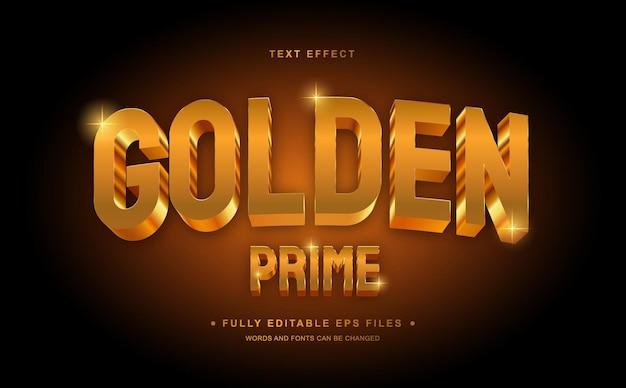 Gouden bewerkbaar teksteffect Premium Vector