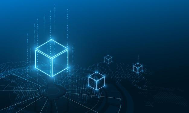 Gouden bitcoin digitale valuta, futuristisch digitaal geld, technologie wereldwijd netwerkconcept,