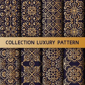 Gouden bloemen luxe naadloos patroon