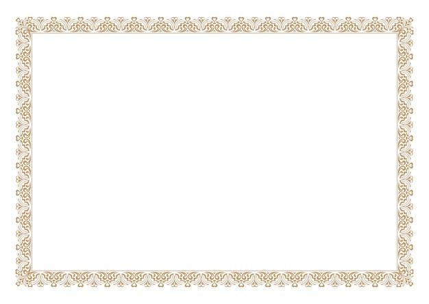 Gouden bloemen sieraad frame
