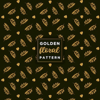 Gouden bloemmotief