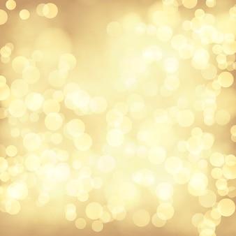 Gouden bokeh abstracte feestelijke achtergrond.