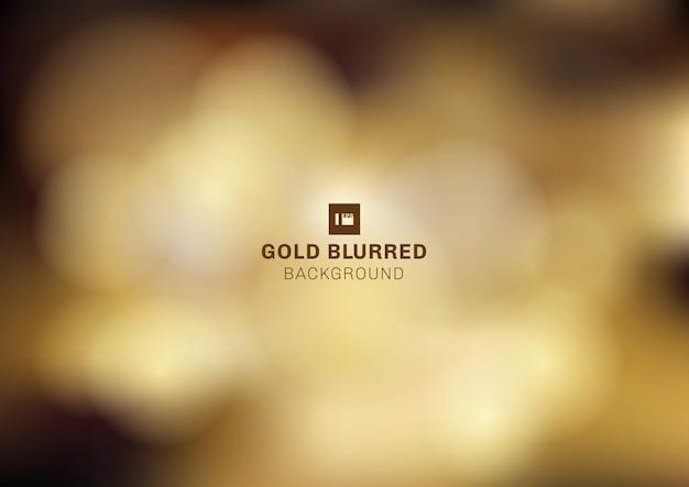 Gouden bokeh vage achtergrond
