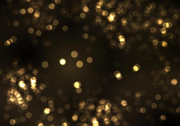 Gouden bokeh wazig licht