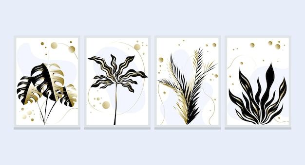 Gouden botanische omslagcollectie