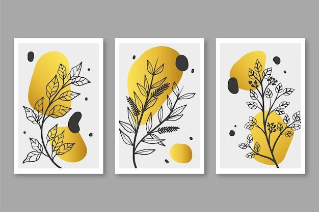 Gouden botanische omslagset