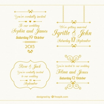 Gouden bruiloft elementen collectie