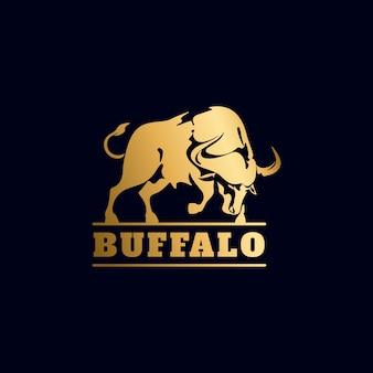 Gouden buffalo-logo