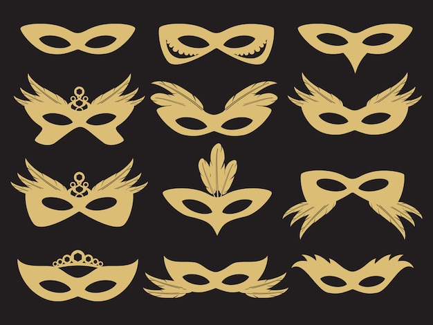 Gouden carnaval partij gezichtsmasker