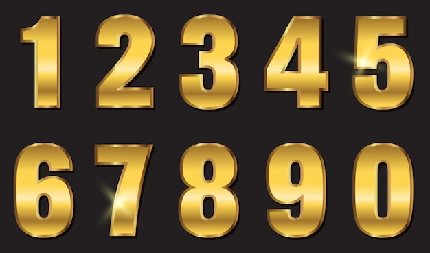 Gouden cijfers ontwerp