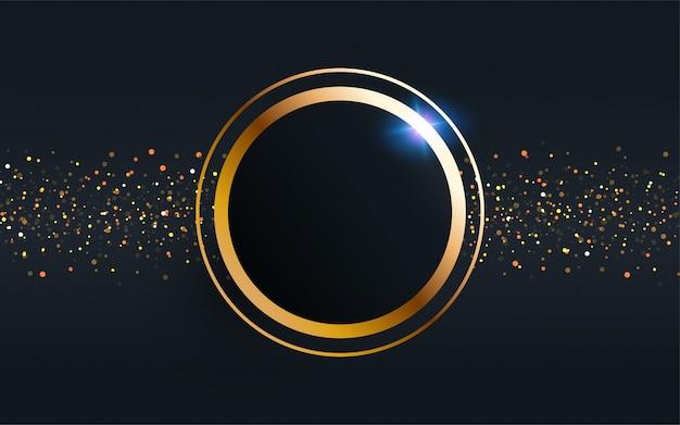 Gouden cirkel frame vector achtergrond.