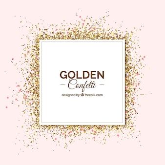 Gouden confetti achtergrond in realistische stijl