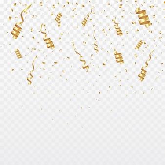 Gouden confetti achtergrond