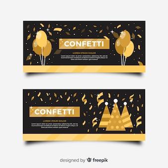 Gouden confetti-banner