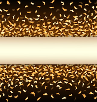 Gouden confetti op zwarte achtergrond