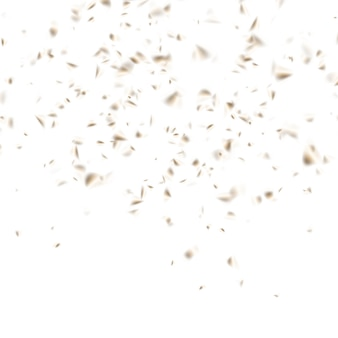 Gouden confettiviering op wit.