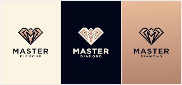 Gouden creative diamond logo en pictogram ontwerpsjabloon, diamant logo voor diamond logo. geweldig sieradenlogo