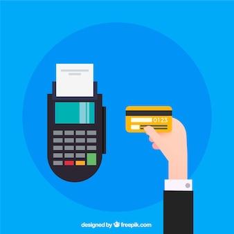 Gouden creditcard en contactloze betaling