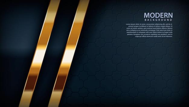 Gouden decoratie op zwarte achtergrond